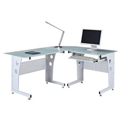Home & Haus Computer Table with Keyboard Drawer
