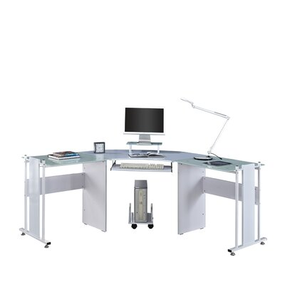 Home & Haus Computer Table with Keyboard Shelf