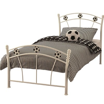 Home & Haus Football Single Wrought Iron Bed