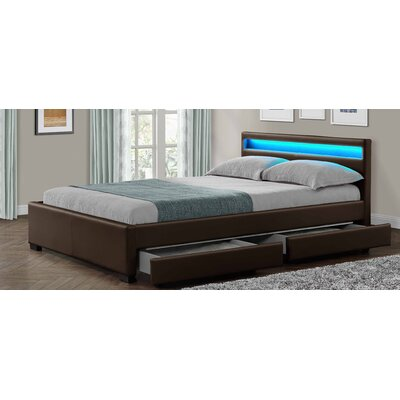 Home & Haus Connor Upholstered Storage Bed Frame