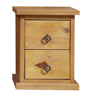 Home & Haus Courta 2 Drawer Bedside Table