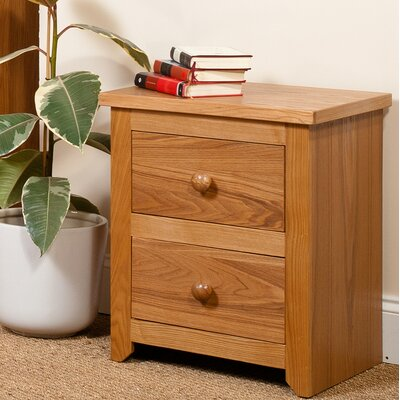 Home & Haus Broderick 2 Drawer Bedside Table