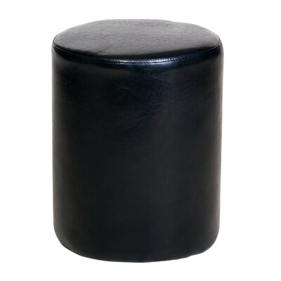 Home & Haus Alta Upholstered Faux Leather Decorative Stool