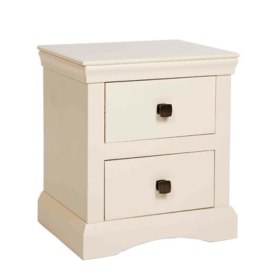 Home & Haus Woolton 2 Drawer Bedside Table