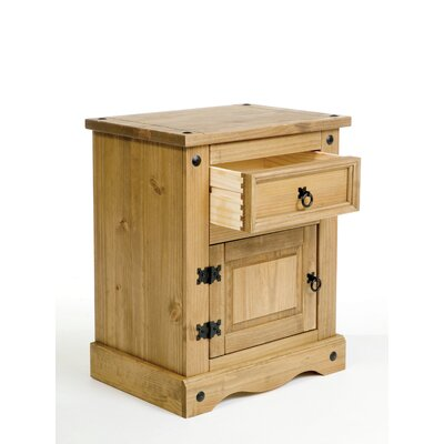 Home & Haus Classic Corona 1 Drawer Bedside Table