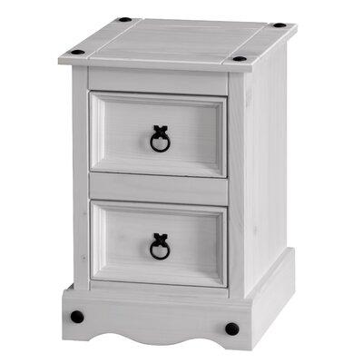 Home & Haus Dorado 2 Drawer Bedside Table