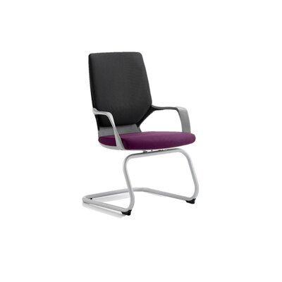 Home & Haus Turin Mid-Back Visitor Chair with Arms