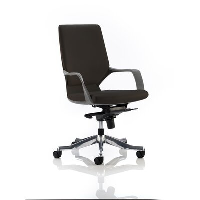 Home & Haus Turin Mid-Back Leather Desk Chair