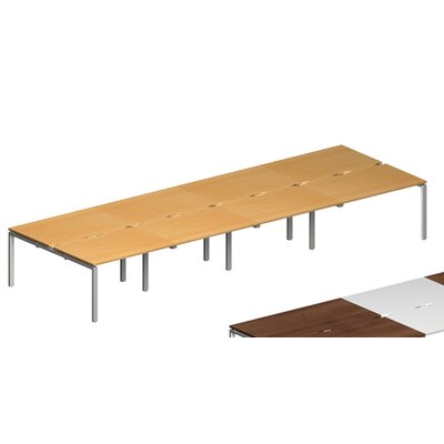 Home & Haus Adapt II 4.2m Rectangular Conference Table