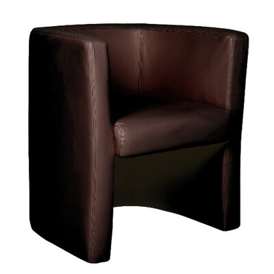 Home & Haus Leather Faced Barrel Chair
