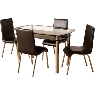 Home & Haus Alyn Dining Table and 4 Chairs