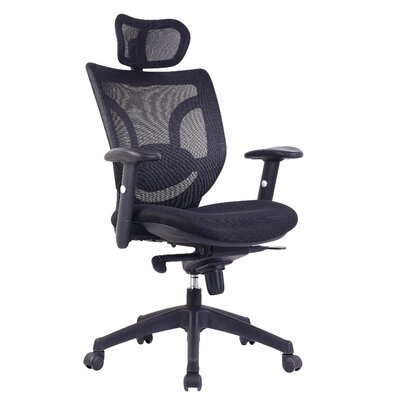 Home & Haus High-Back Mesh Executive Chair with Adjustable Arm
