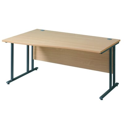 Home & Haus Maestro 25 GL Desk Shell with Cable Management