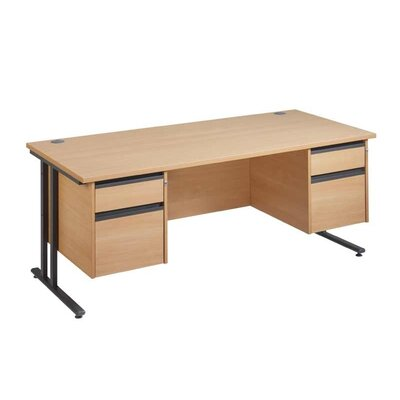 Home & Haus Maestro 25 GL Computer Desk with Cable Management