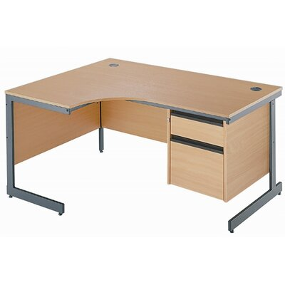 Home & Haus Maestro Computer Desk with Cable Management