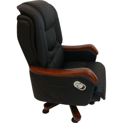 Home & Haus Beaverbank High-Back Leather Executive Chair