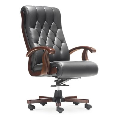 Home & Haus Claremont High-Back Leather Executive Chair