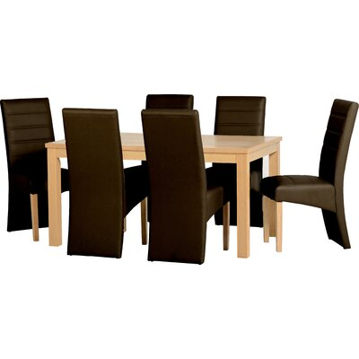 Home & Haus Caldy Dining Table and 6 Chairs