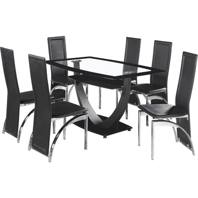 Home & Haus Norfolk Dining Table and 6 Chairs