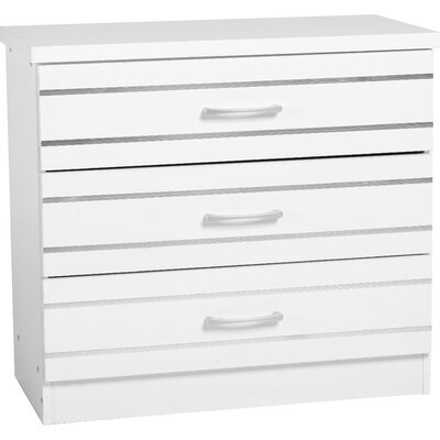 Home & Haus Ford 3 Drawer Chest of Drawers