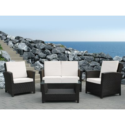 Home & Haus Rimini 4 Seater Sofa Set with Cushions
