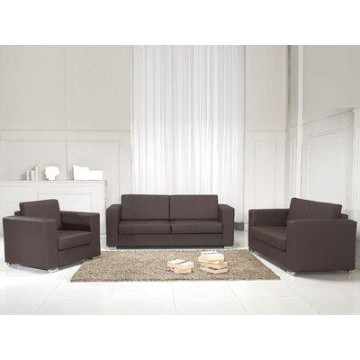 Home & Haus Helsinki Leather Sofa Set