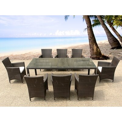 Home & Haus Kintore 8 Seater Dining Set with Cushions