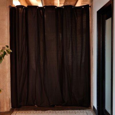Muslin Room Divider Color: Black