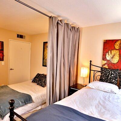 Muslin Room Divider Color: Gray