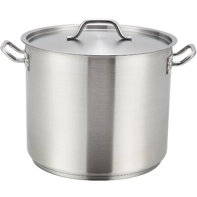 """Stock Pot with Lid Size: 8.13"""" H x 14.38"""" W x 12.5"""" D"""