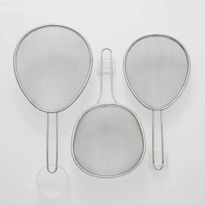 3 Piece Stainless Steel Sieves Set