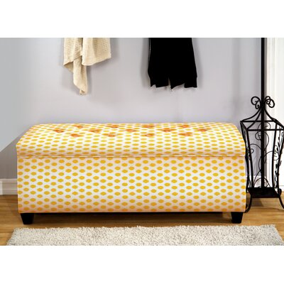 Upholstered Storage Bench Color: Jojo Yellow, Size: Large