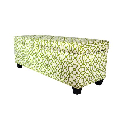 Noah Fabric Storage Bench Color: Blush, Size: Small