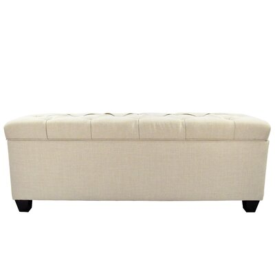 Fabric Storage Bench Color: Beige, Size: Large