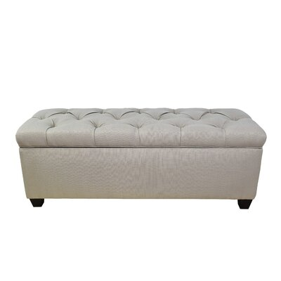 Sachi Fabric Storage Bench Color: Silver Gray, Size: Large