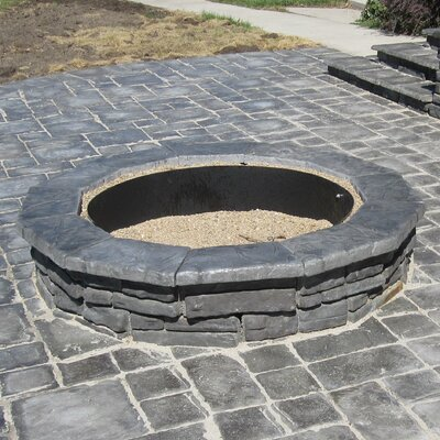 Random Stone Concrete Wood Burning Fire Pit Finish: Gray
