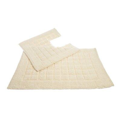 Allure Checkers 2 Piece Bath and Pedestal Mat Set
