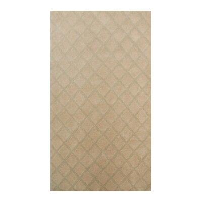 Coralie Flooring Trellis Hand-Tufted Brown Area Rug