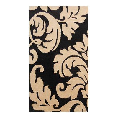 Coralie Flooring Grande Damask Hand-Tufted Beige Area Rug
