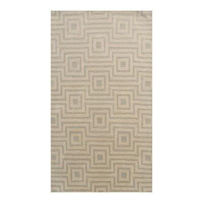 Coralie Flooring Trellis Hand-Tufted Beige Area Rug