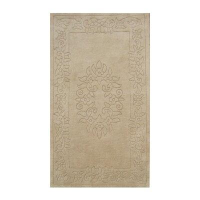 Coralie Flooring Sultan Hand-Loomed Beige Area Rug