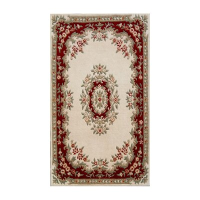 Coralie Flooring Mumtaz Hand-Tufted Ivory Red Area Rug