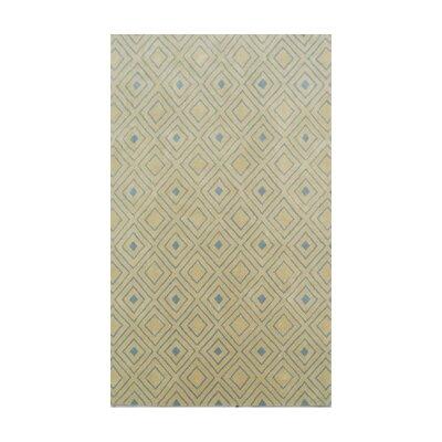 Coralie Flooring Trellis Hand-Tufted Gold Area Rug