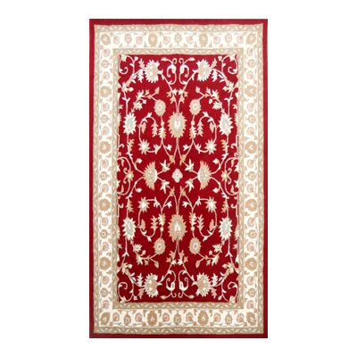 Coralie Flooring Zoya Hand-Tufted Red Area Rug