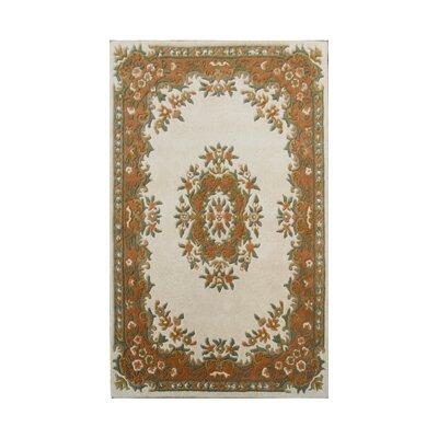 Coralie Flooring Mumtaz Hand-Tufted Ivory Rust Area Rug