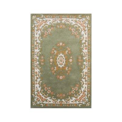 Coralie Flooring Mumtaz Hand-Tufted Green Area Rug