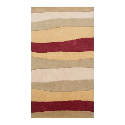 Coralie Flooring Native Hand-Tufted Gold Area Rug