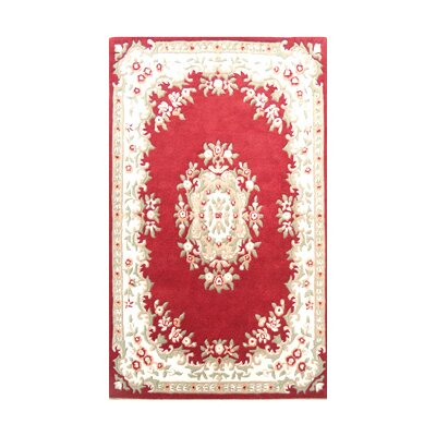 Coralie Flooring Mumtaz Hand-Tufted Red Area Rug