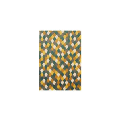Coralie Flooring Influence Hand-Tufted Green Area Rug