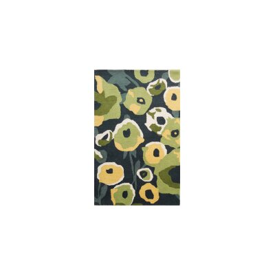 Coralie Flooring Zinnia Hand-Tufted Green Area Rug